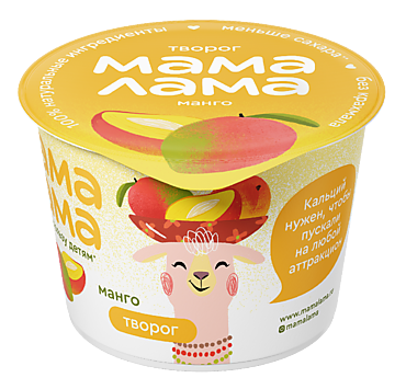 Творог 3.8% «Мама Лама» Манго, 100г