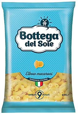 «Bottega del Sole», макаронные изделия «Рожки», 400г