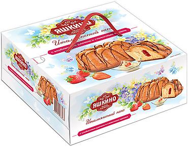 «Яшкино», кекс с клубничным джемом и сливочным кремом, 500г