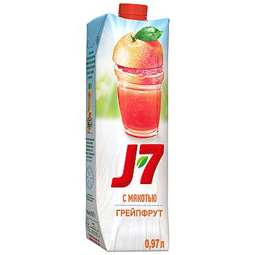 Нектар «J7» Грейпфрут с мякотью, 970мл
