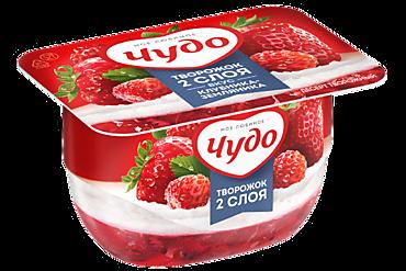 Творожный десерт 4% «Чудо» со вкусом клубники и земляники, 100г