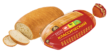 Батон «Русский хлеб» «Классический» в нарезке, 350г