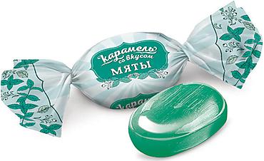 Карамель со вкусом мяты (упаковка 0,5кг)