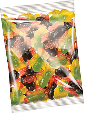 «КрутФрут», мармелад жевательный с двойными вкусами: клубники и ананаса, манго и абрикоса (упаковка 0,5кг)
