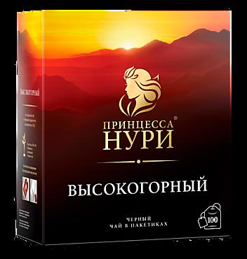 Чай черный «Принцесса Нури» высокогорный, 100 пакетиков, 200г
