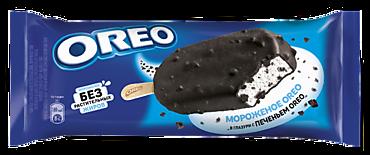 Мороженое сливочное «Oreo» эскимо с дробленым печеньем, 90мл
