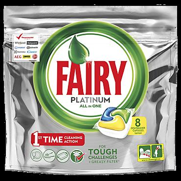 Средство для посудомоечных машин «Fairy» Platinum лимон, 8 штук