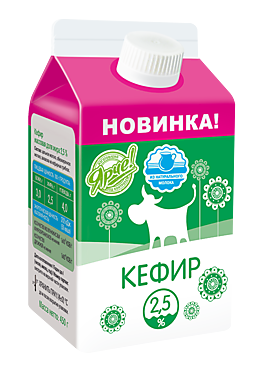 Кефир 2.5%, 450г