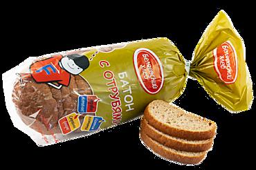 Батон «Беляевский хлеб» с отрубями, нарезанный, 250г
