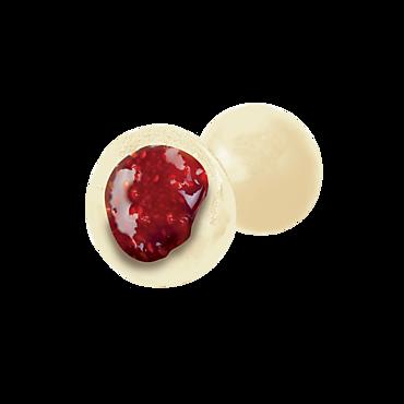 Драже клубника в белой глазури