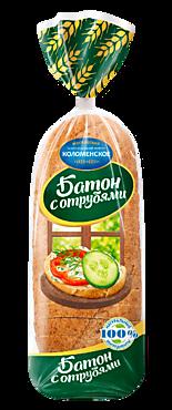 Батон пшеничный с отрубями «Коломенское» в нарезке, 300г