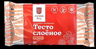 Тесто «Инской» слоеное пресное, 500г