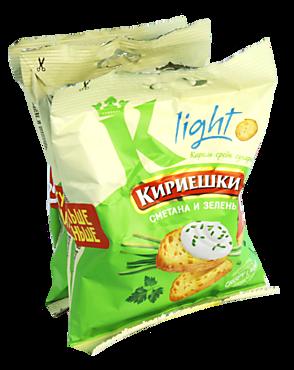 Сухарики «Кириешки Light» со вкусом сметаны и зелени, 4 шт, 142г