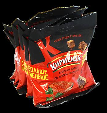 Сухарики «Кириешки» со вкусом красной икры, 5 шт, 200г