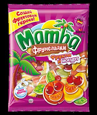 Жевательный мармелад «Mamba» «Фрумеладки» Фрукты и йогурт, 140г