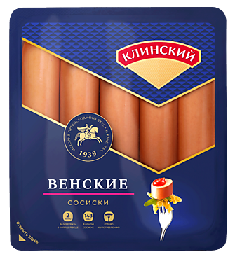 Сосиски «Клинский» Венские, 470г