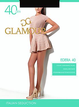 Колготки женские «Glamour Edera» 40 den, nero, size 3