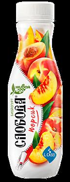 Биойогурт питьевой 2% «Слобода» с персиком, 290г
