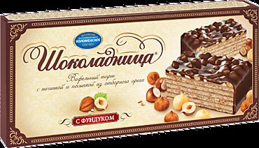 Торт вафельный «Шоколадница» с фундуком, 270г