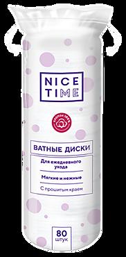 Ватные диски «Nice Time» 80 шт