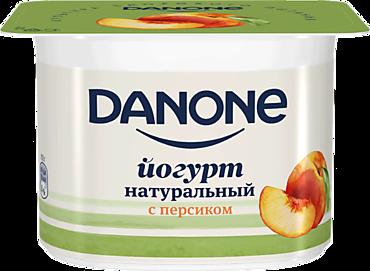 Йогурт 2.9% «Danone» с персиком, 110г