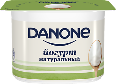 Йогурт 3.3% «Danone» натуральный, 110г
