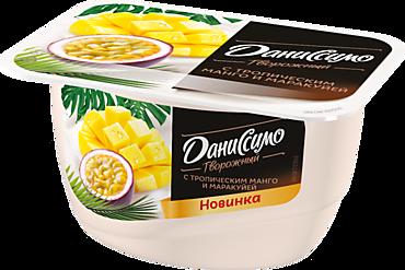 Продукт творожный 5.6% «Даниссимо» с тропическим манго и маракуйей, 130г