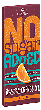 «OZera», горький шоколад No sugar added Dark&Orange, 90г