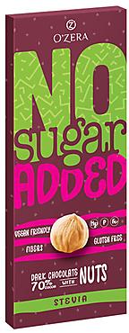 «OZera», горький шоколад O'Zera No sugar added Dark&Nuts, 90г
