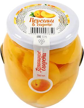 «Домашние сладости», персики консервированные, 530г