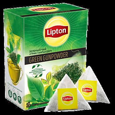 Чай «Lipton» Зеленый Порох, 20 пирамидок