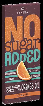 Горький шоколад «O'Zera» No sugar added Dark&Orange, 90г