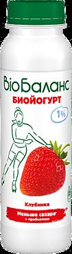 Биойогурт 1% «Bio Баланс» Клубника, 270г