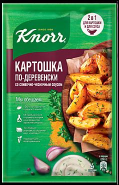 Смесь приправ «Knorr На второе» Картофель по-деревенски в сливочно-чесночном соусе, 28г