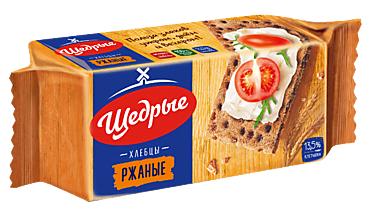 Хлебцы «Щедрые» ржаные, 100г