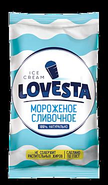 Мороженое «Lovesta» пломбир ванильный в вафельном стаканчике, 70г