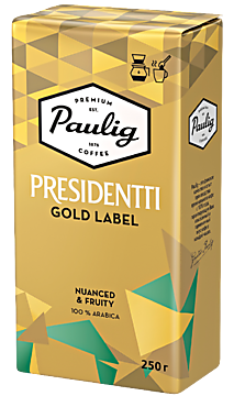 Кофе «Paulig Presidentti» Gold молотый, 250г