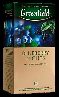 Чай черный «Greenfield» Blueberry Nights, 25 пакетиков, 50г