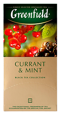 Чай черный «Greenfield» Currant & Mint, 25 пакетиков, 50г