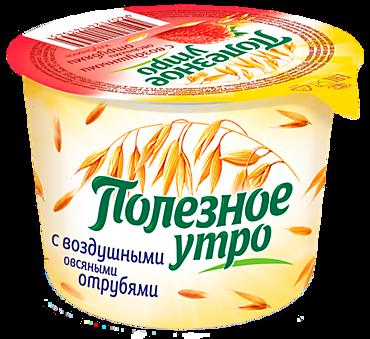 Продукт овсяный «Полезное утро» со вкусом клубники, 120г