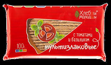 Хлебцы «Хлебцы-Молодцы» мультизлаковые с томатом и базиликом, 100г