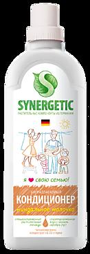 Кондиционер для белья «SYNERGETIC» Миндальное молочко, 1л