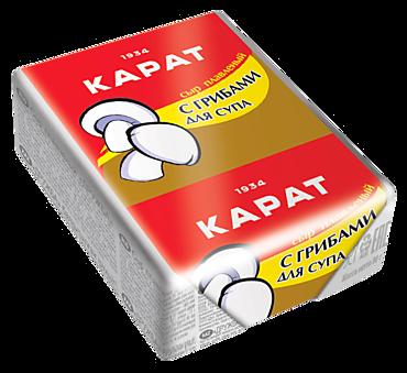 Сыр плавленый 45% «Карат» с грибами для супа, 90г