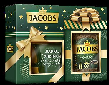 Подарочный набор «Jacobs Monarсh» кофе натуральный растворимый + чашка, 95г