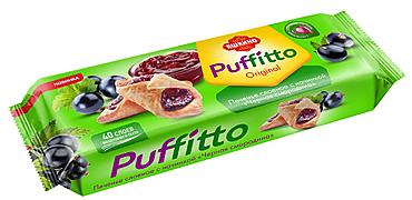Печенье слоеное c начинкой «Черная смородина» «Puffitto», 125г