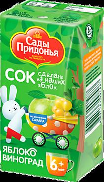 Сок «Сады Придонья» Яблоко-виноград, 125мл