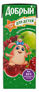 Сок «Добрый» Яблоко -Вишня, 200мл
