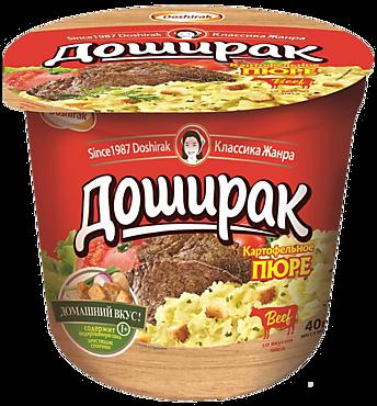 Пюре картофельное «Доширак» со вкусом мяса, 40г