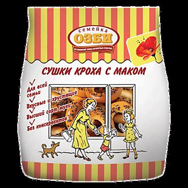 Сушки «Кроха» «Семейка ОЗБИ» с маком, 200г