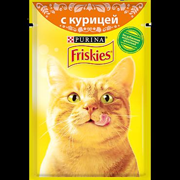 Влажный корм для кошек «Friskies» Курица с подливом, 85г